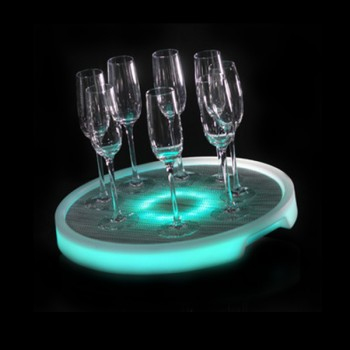 Box of 5 LED Serving Trays (Circular)