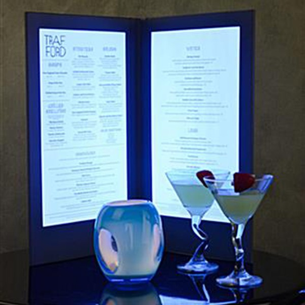 Small Led Light Up Menu 8 5 Quot X5 5 Quot Ice Entertainments