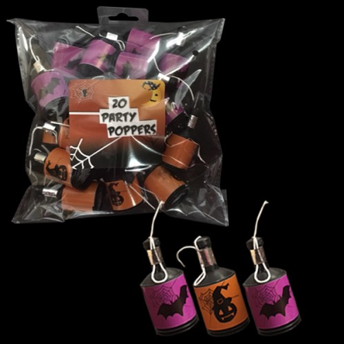 Pack of 20 Halloween Party Poppers