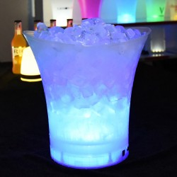 Individual White LED Glow Ice Bucket (5L)