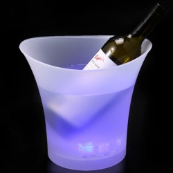 1 Individual White LED Glow Ice Bucket (5L)