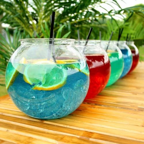 Individual Plastic Cocktail Fish Bowl 105.5oz / 3ltr