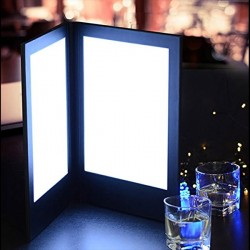 Unbranded Large LED Light-Up Menu (A4 Insert)