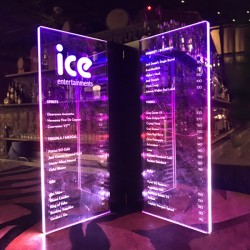 Customised Printed VIP LED Menu