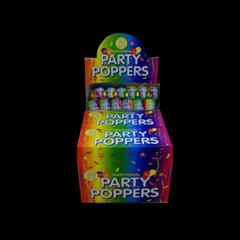 Box of 12 Traditional Party Poppers