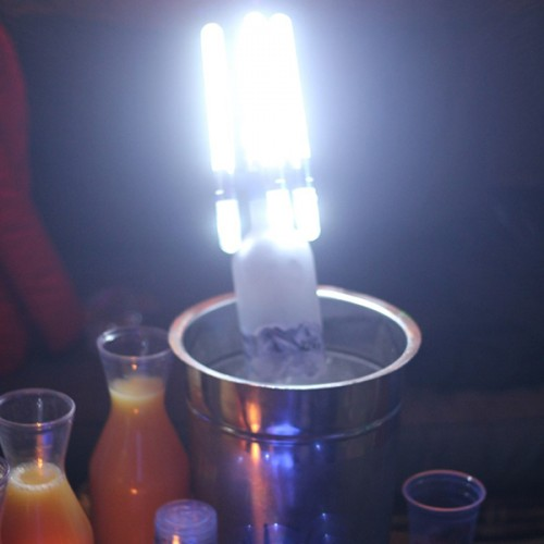 Box of 75 LED Glow NITE SPARX (LED Champagne Sparkler)