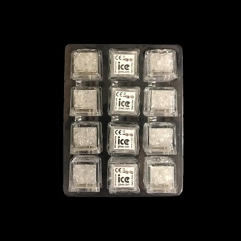 Tray of 12 Liquid Activated LED Glow Ice Cubes