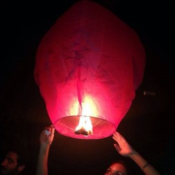 Coloured Chinese Sky Lantern