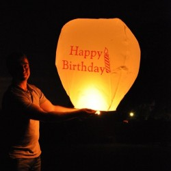Happy Birthday Chinese Sky Lantern