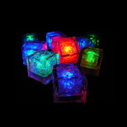 Tray of 24 Switch Activated LED Glow Ice Cubes