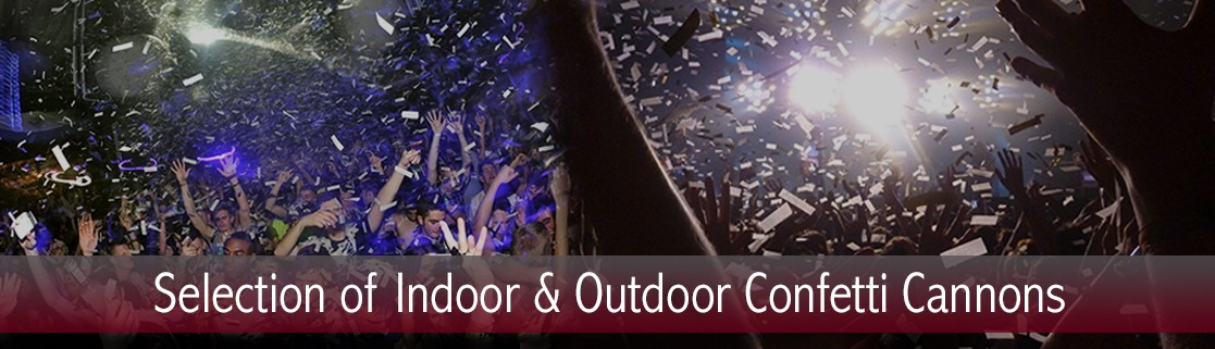 Indoor and Outdoor Confetti Cannons